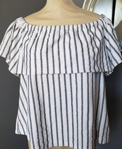 Banana Republic Off the Shoulder Striped Top